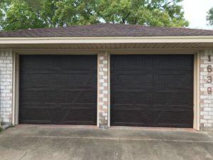 wood looking garage door