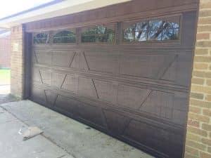 wood looking garage door in houston