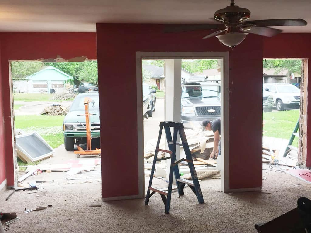turn a room to a garage