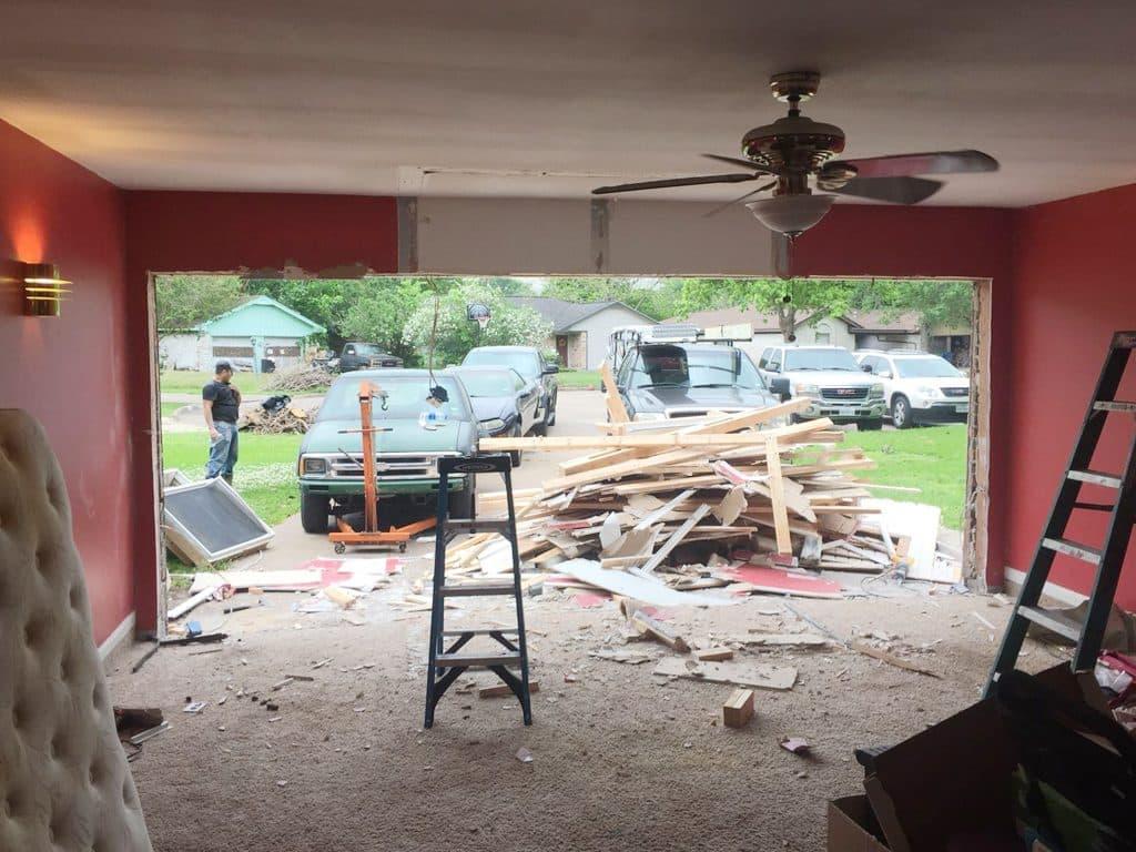 garage door framing & installtion