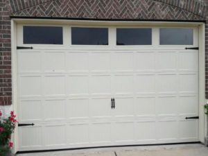 carriage white garage doors