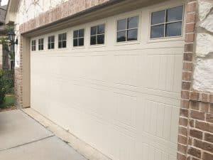 residential garage door with windows