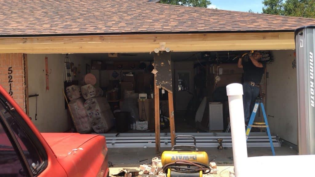 garage door framing & instaaltion