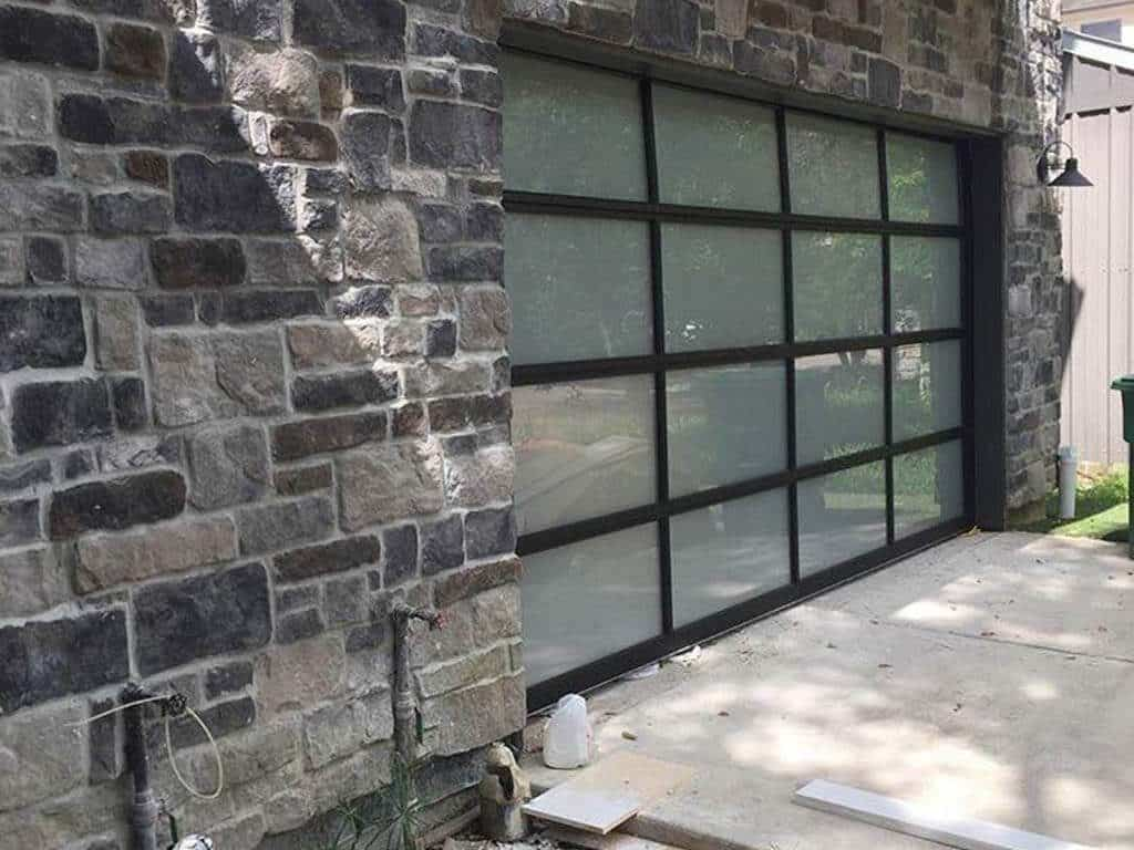 glass garage door installation Houston