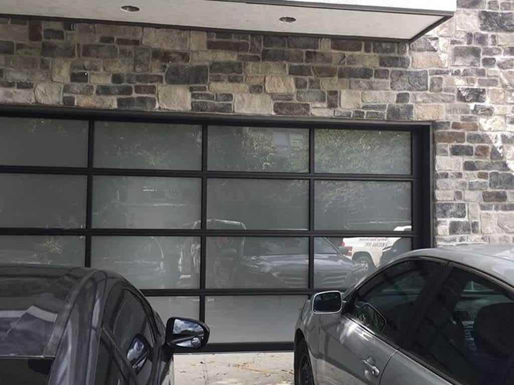 glass garage door installation Houston