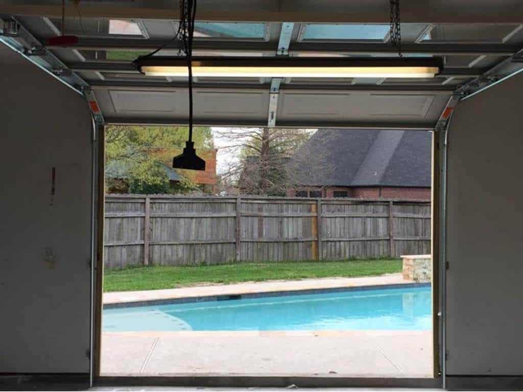 full view glass garage doors Houston