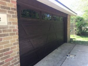 wooden two car garage door